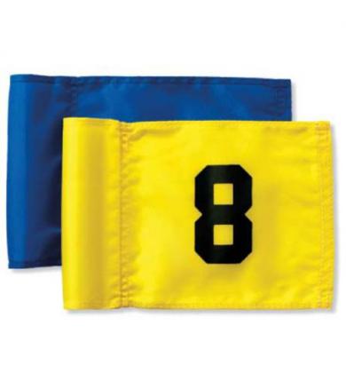 Flagga Junior - 10-18 svart på gul