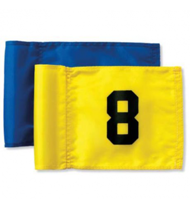 Flagga Junior - 1-9 svart på gul