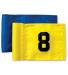 Flagga övningsflaggstång - 1-9 svart på gul