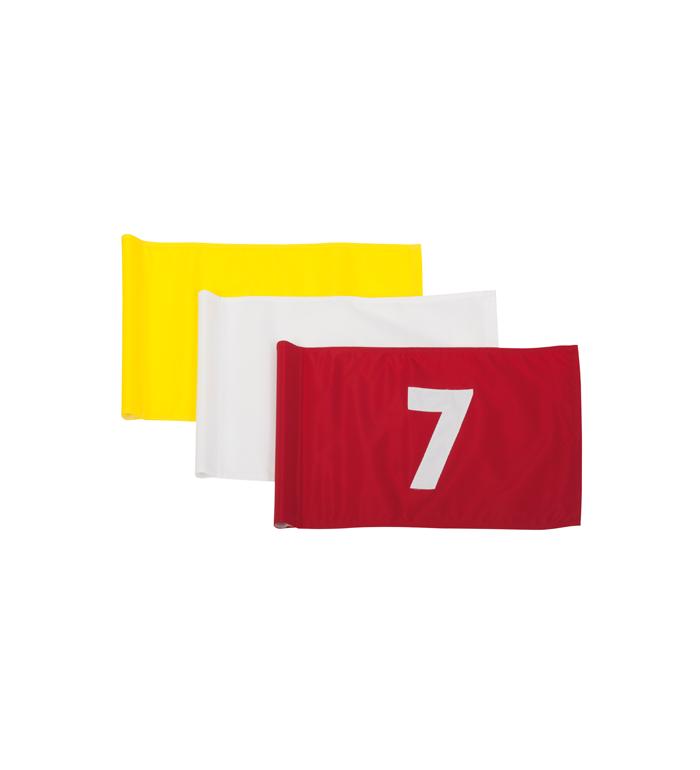 Flagga - 1-9 svart på gul