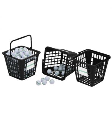 Bollkorg - Fyrkantig 75 bollar, plast - Svart
