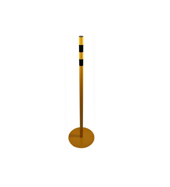 """Markeringsstolpe """"150"""", gul/svart, Ø:45 mm"""