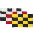 Flagga golf - (Patt) Rutig Röd/Vit 400 D /st.