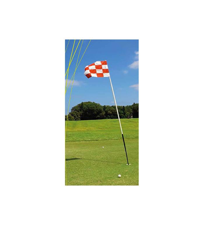 Flaggstång O-Stick Lite - Svart/vit