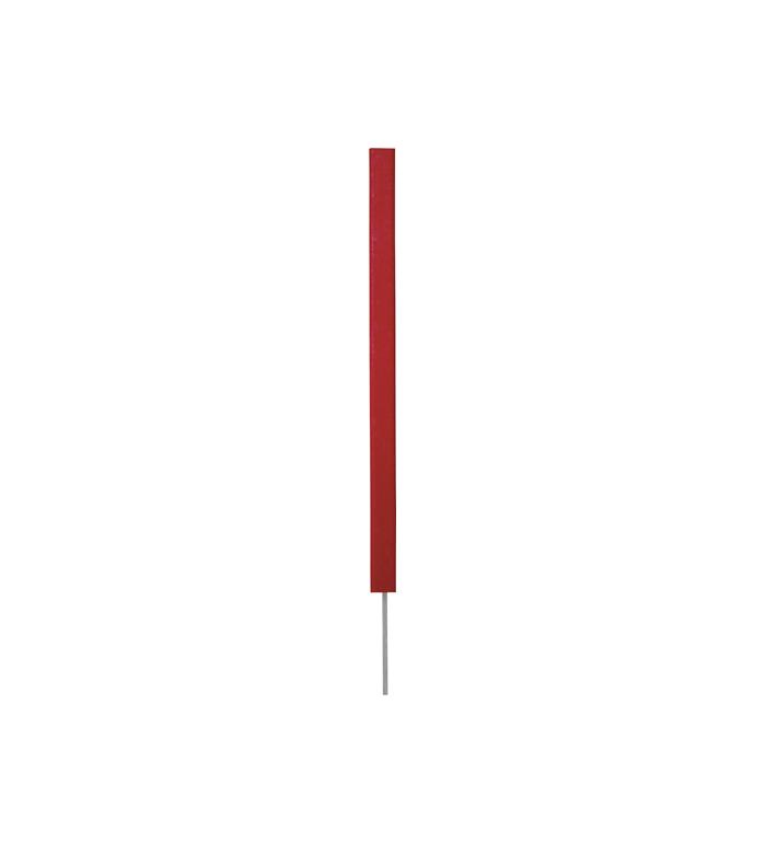 Hindersmarkering - röd fyrkantig